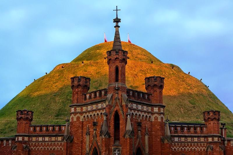"Kosciuszko Mound ""kopiec Kosciuszki"" is the most famous mound in Kraków, Poland, raised in 1820-1823. it was erected by Cracovians in memory of the great Polish National hero Tadeusz Kosciuszko."