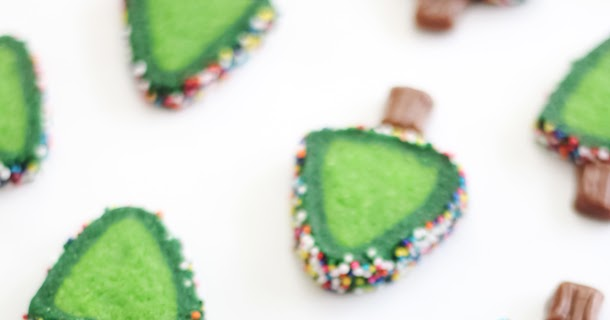 Sprinkle Christmas Tree Cookies