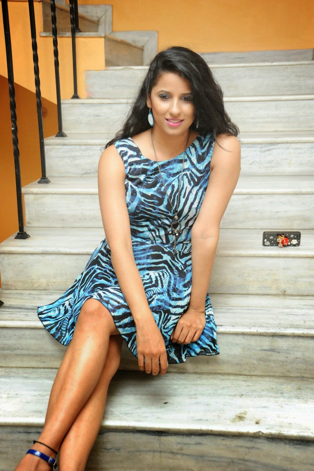 Shravya Reddy Pictures in Short Dress at Premalo ABC Movie ...