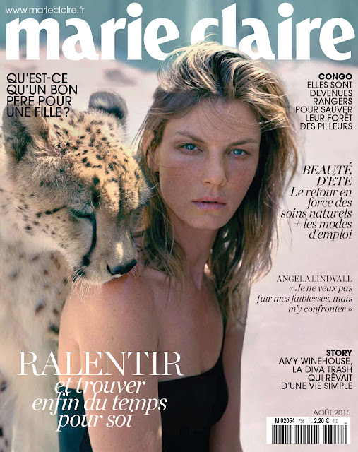 Actress, Model @ Angela Lindvall by Elina Kechicheva for Marie Claire France, August 2015