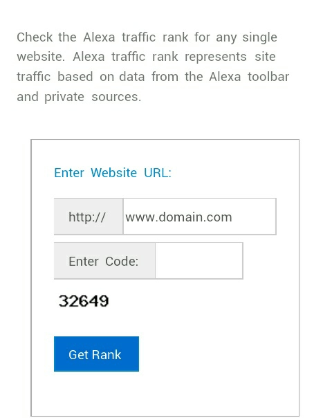 online alexa rank checker