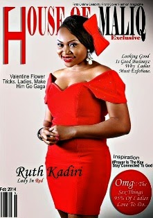Sexy Darey Art Alade Graces HOUSE OF MALIQ 2014 Valentine Issue Along Side Nollywood Actress Ruth K
