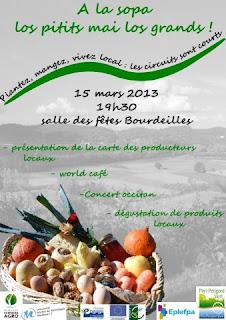 Plantez, mangez, vivez local !  dégustation concert