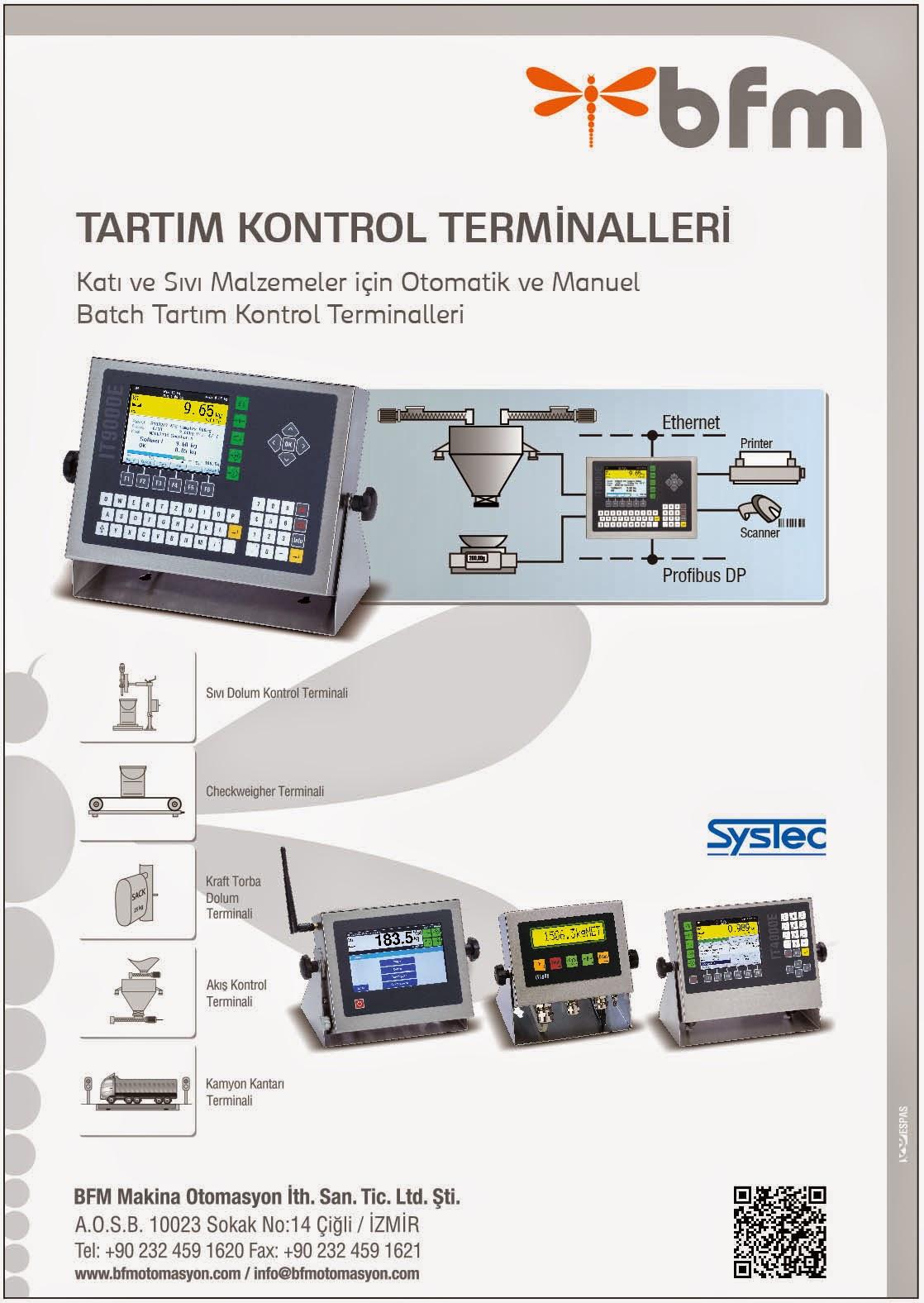 tartım kontrol terminali