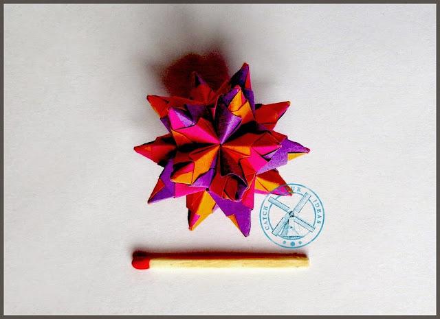 origami, origami modulowe, modular origami, model origami, kolczatka, kolczatka origami, malutkie origami, malutki model, maleńkie origami, malueńki model, mini origami, origami mini, kolczatka z papieru, Paolo Bascetta, bascetta, paolo bascetta