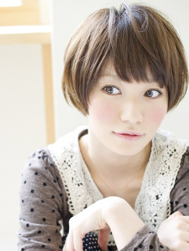 cute japanese asian short hairstyles 2012 for women2013