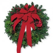 Order a A Red Velvet Christmas Wreath