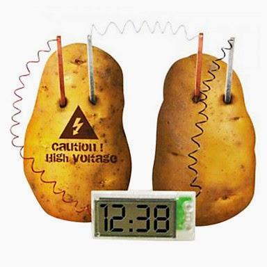 Reloj con Batería de Patata