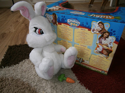 Milky the Bunny emotions toy interactive rabbit