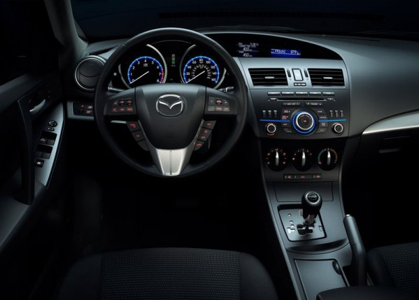 Black interior of 2012 Mazda 6