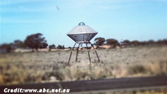 UFO Sculpture, Lower Light in South Australia