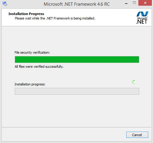 Microsoft .NET Framework v4.6 RC Screenshot