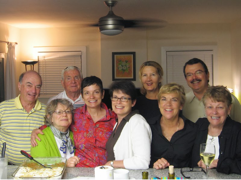 Celebrating Mom's eightieth birthday with family