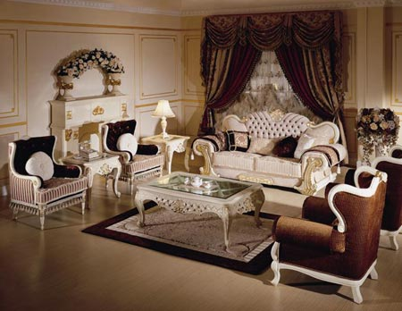 Beautiful classic interior living room design interior for Classic room design