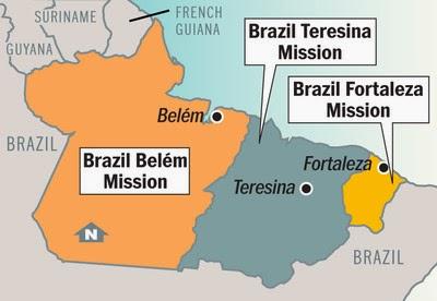 Brazil Belem Mission Map