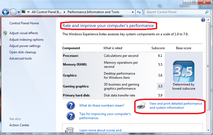 Rate improve your computer performance