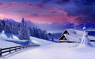 Winter House HD Wallpaper