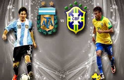 Jadual Astro Live Streaming Argentina vs Brazil 11 Oktober 2014 International Friendly