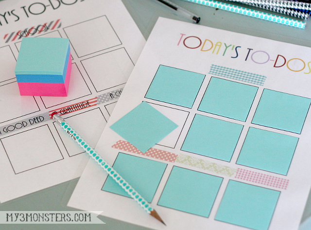 Get #SchoolYearReady with these FREE One-Page Planner printables at my3monsters.com