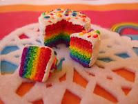 cara mudah membuat rainbow cake