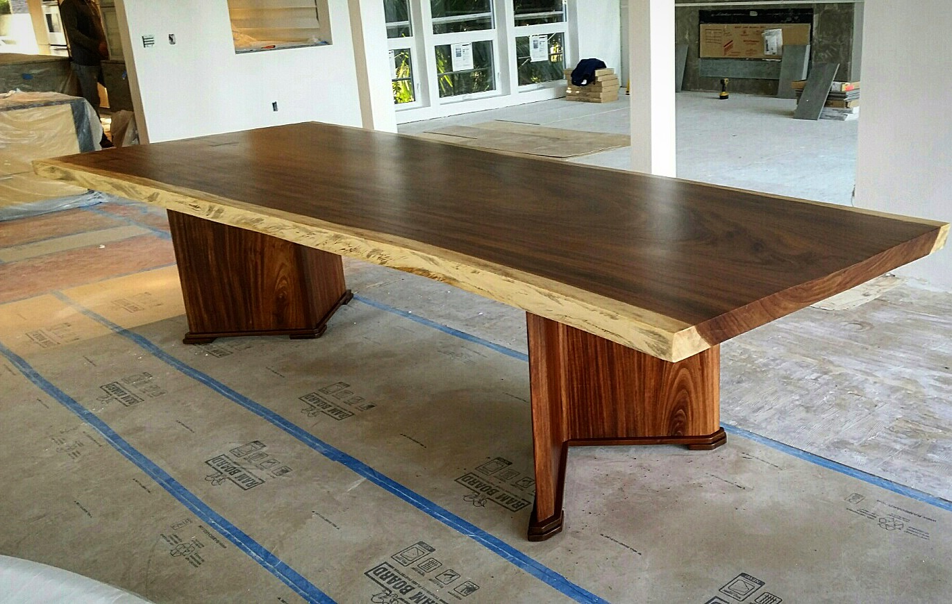 Parota dining table by ben wheatley tropical exotic hardwoods - Parota Dining Table By Kevin Deal Woodworking Of Oceanside Ca