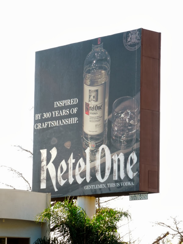 Ketel One Vodka 300 years craftsmanship billboard