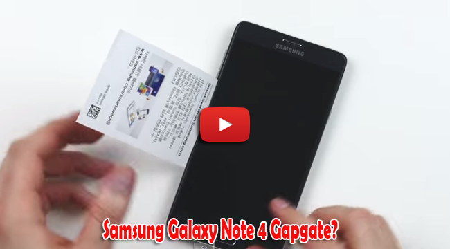 Watch Unboxing Samsung's Galaxy Note 4 and Gapgate Test