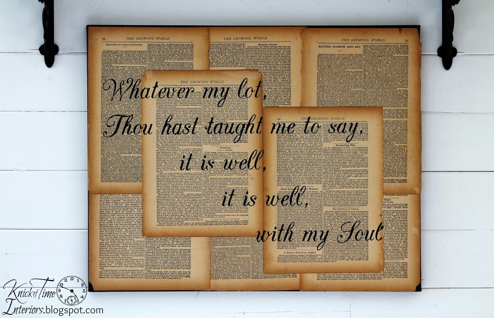 repurposed book page canvas wall art hymn lyrics - Book Pages Art