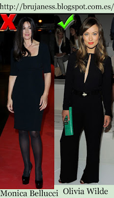 Monica Bellucci Olivia Wilde Do&dont Do & don't total black look