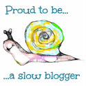 I am a Slow Blogger