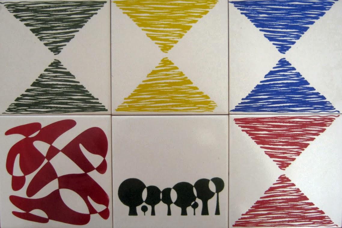 Azulejos decorados de José Roberto Hofling.