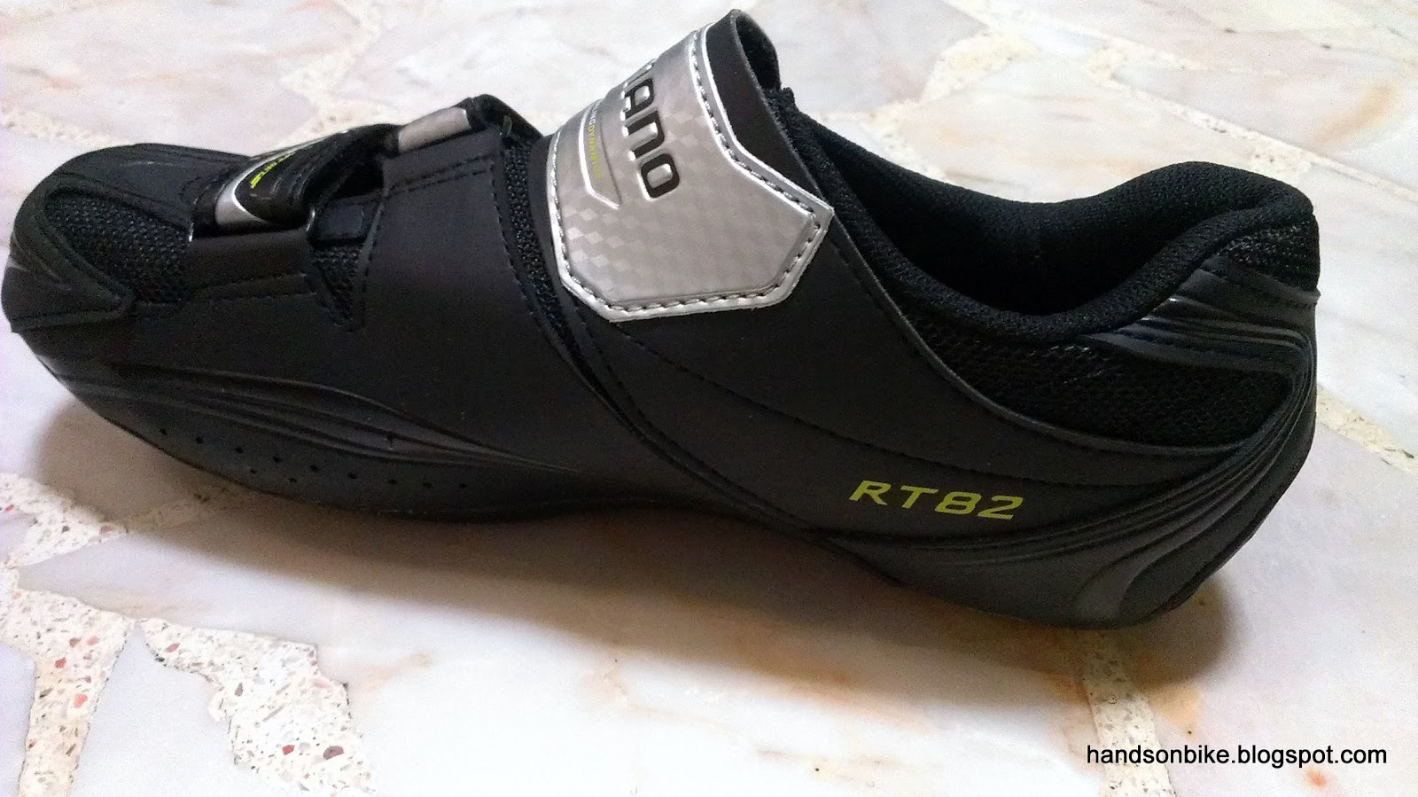 on bike shimano rt82 spd road touring shoes