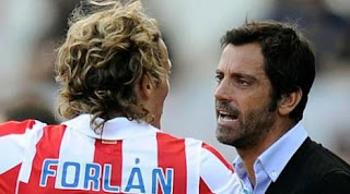 Forlán revela el conflicto que tenia con el técnico del Atlético de Madrid
