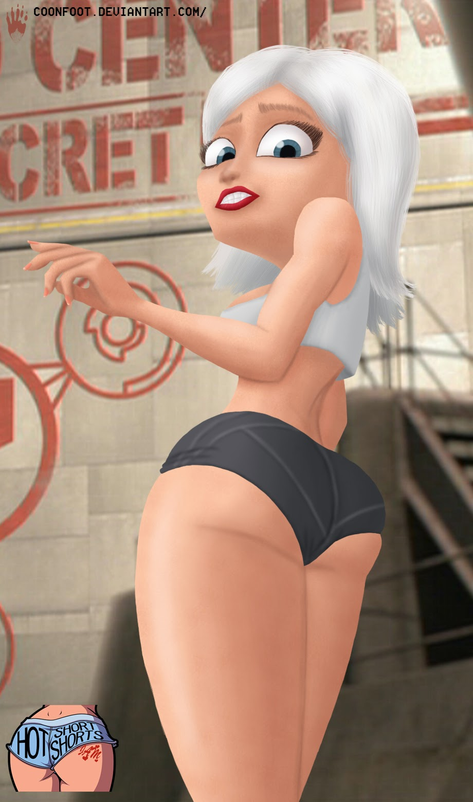 Susan from monsters vs aliens series naked  porn scene