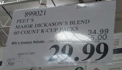 Deal for Peet's Coffee Major Dickason's Blend K-Cups  at Costco