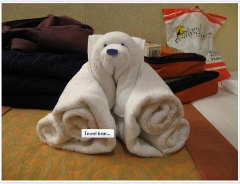 Todo Para Eventos Osos En Toalla - Decoracion-con-toallas