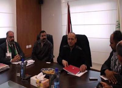 Secretário Geral da OLP, Yasser Abed Rabbo e a delegação do Brasil