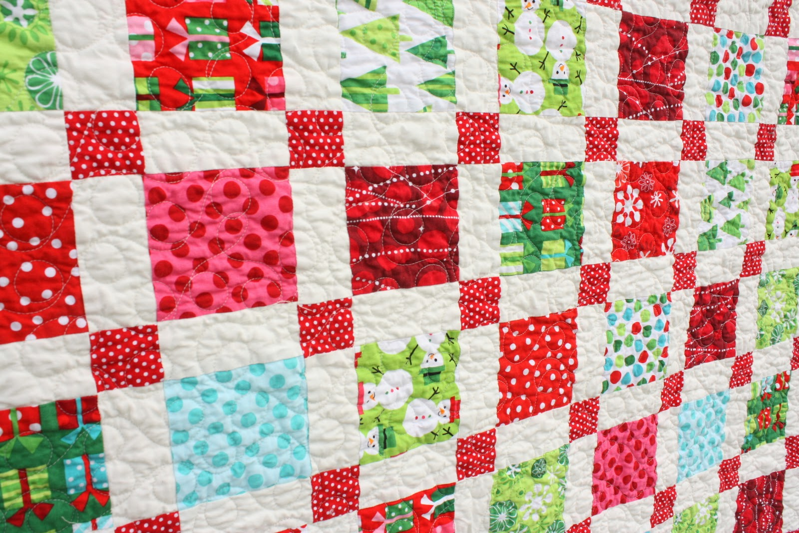 Brights Christmas Quilt - Diary of a Quilter - a quilt blog