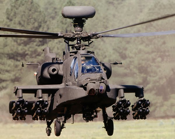 AH-64 Apache Army Attack Helicopter