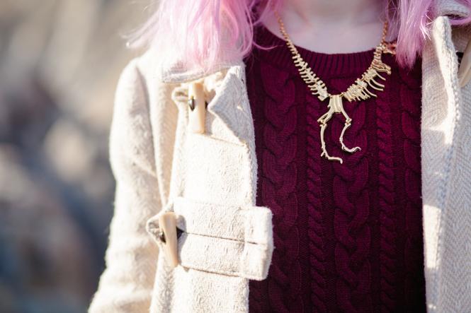 dinosaur skeleton necklace t rex jewellery