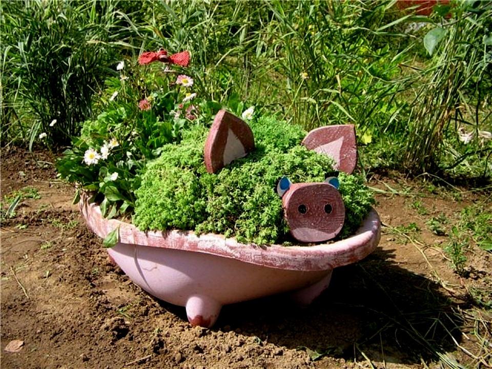 Украшаем садовый участок своими руками фото