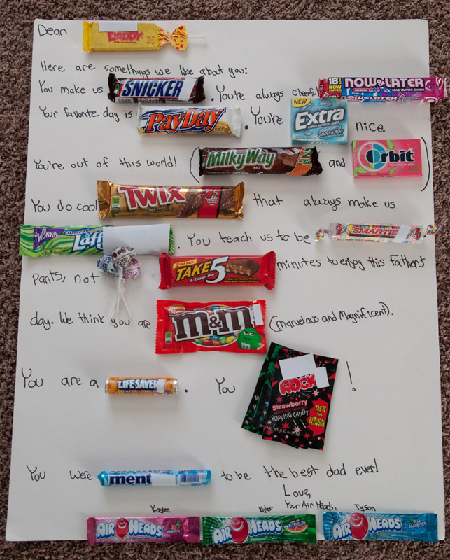 NEW* Be sure to check our our NEW Father's Day Candy Bar Letter!