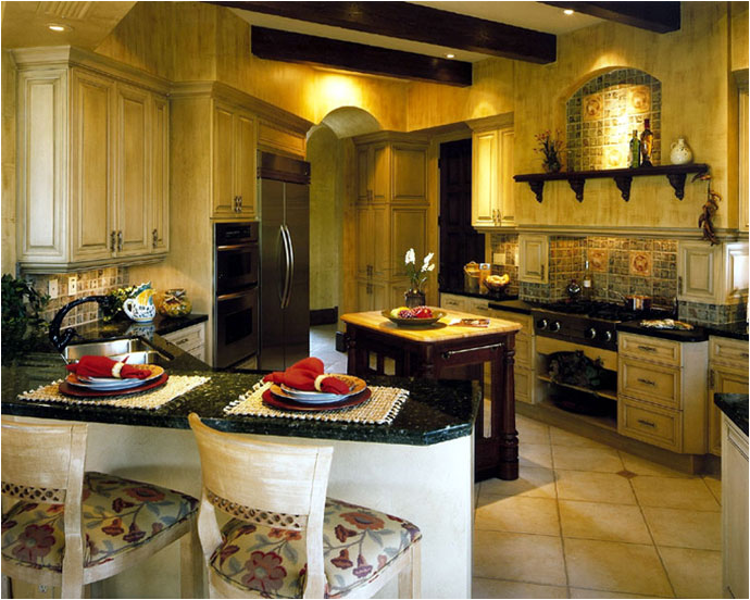 Tuscan kitchen ideas room design ideas for Tuscan decorations for home