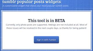 Cara Membuat Popular Post untuk Tumblr