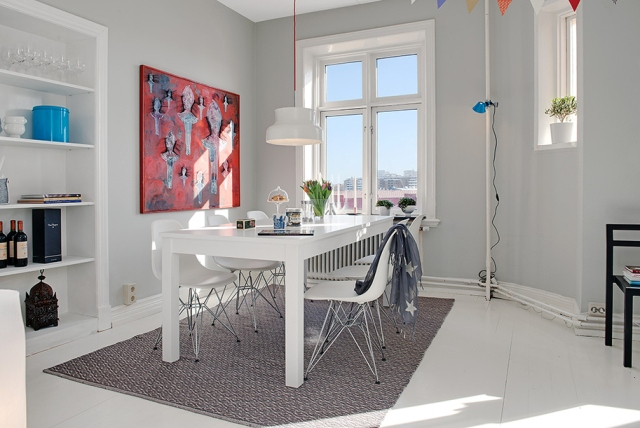 silla eames blanca como combinarla