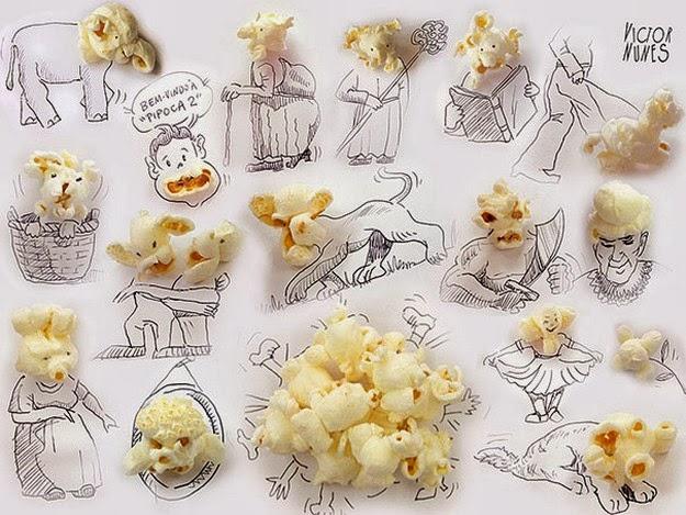 Artist Victor Nunes drawings