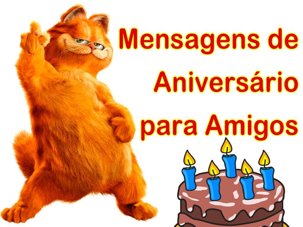 Mensagem de Feliz Aniversario para Amiga ou Amigo - Frases Curtas