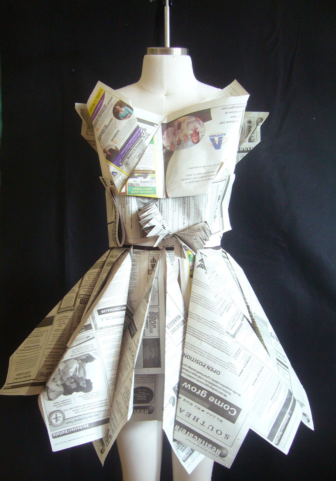 Fashion And Art Trend  Recycled Fashion  Beautiful Dresses