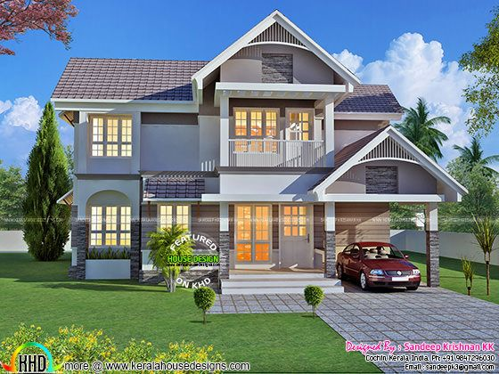 Beautiful front elevation by Sandeep Krishnan KK