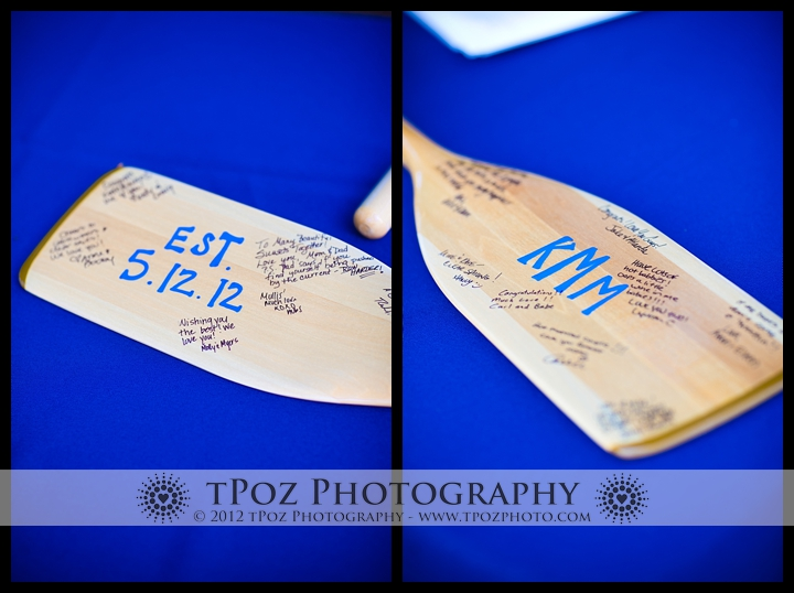 Guest Book Oars Port Annapolis Marina Wedding